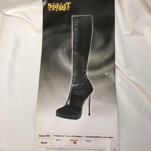 Spirit Knee High Button Up Boots